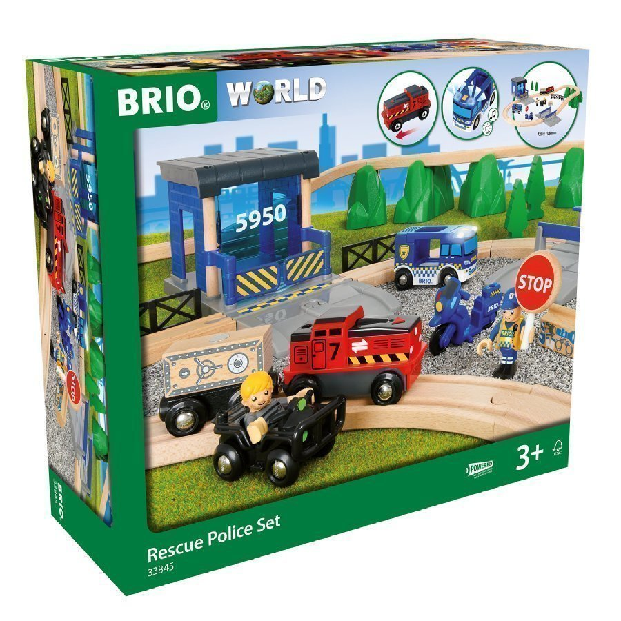 Brio World Juna Iso Poliisi Deluxesetti