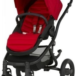 Britax Affinity 2 2016 Rattaat Black/Flame Red Paketti