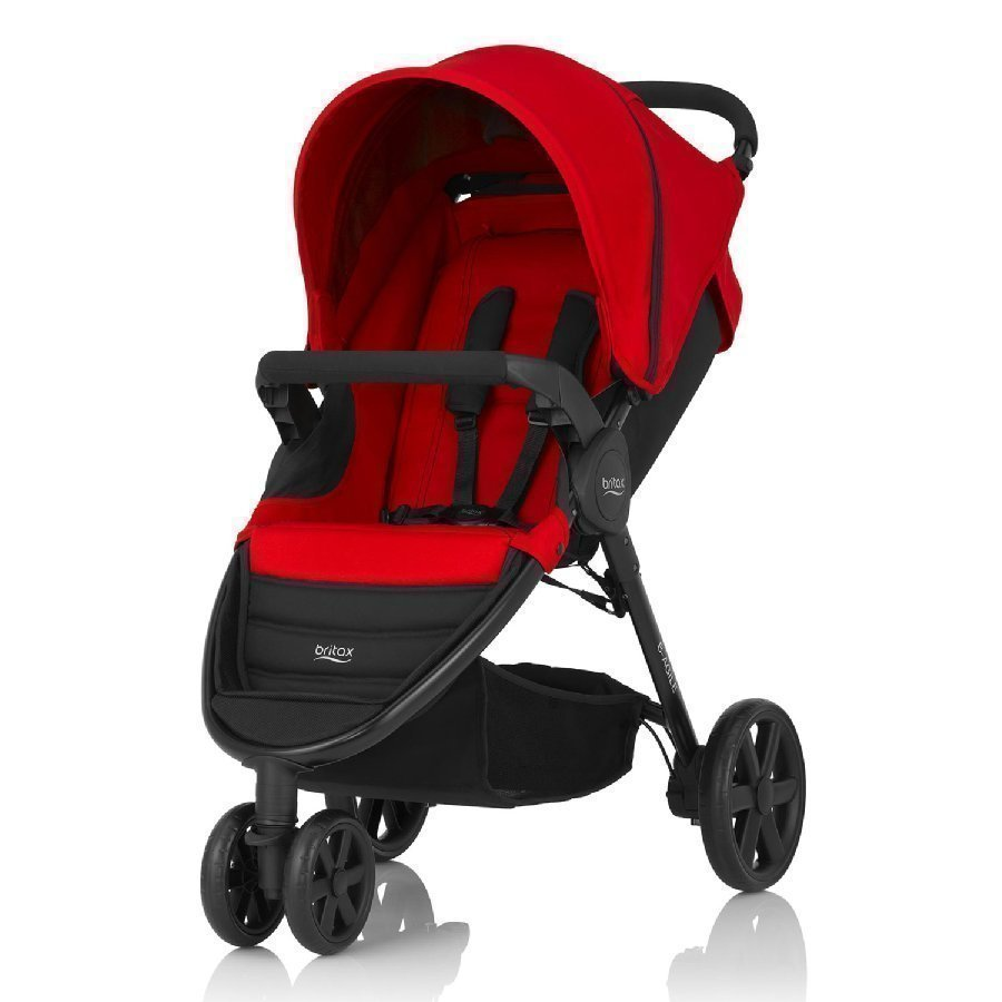 Britax B Agile 3 Flame Red Lastenrattaat