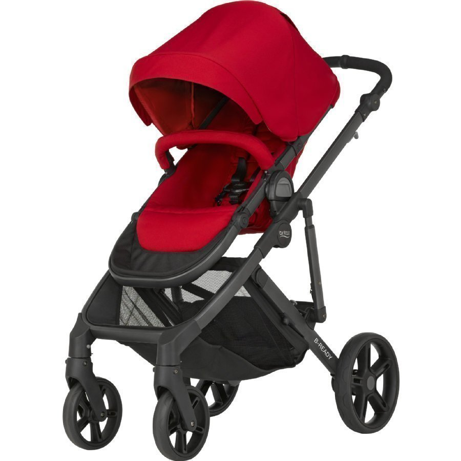 Britax B Ready Flame Red Yhdistelmärattaat