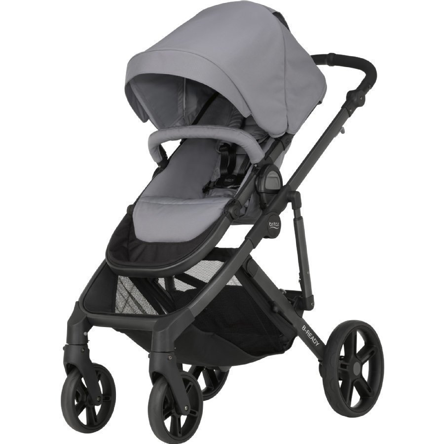 Britax B Ready Steel Grey Yhdistelmärattaat