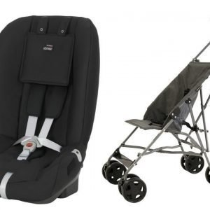 Britax Römer Turvaistuin Two Way + Carena Grinda Sateenvarjorattaat Paketti