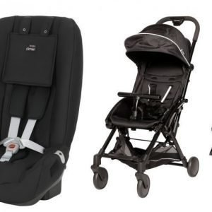Britax Römer Turvaistuin Two Way + Carena Kobbe Matkarattaat Paketti