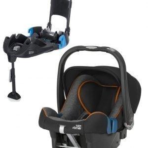Britax Römer Turvkaukalo Baby Safe Plus SHR II 2016 Black Marble + Turvaistuimen Telakka Turvavöillä