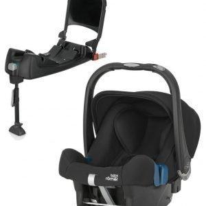 Britax Römer Turvkaukalo Baby Safe Plus SHR II 2016 Cosmos Black + Turvaistuimen Telakka ISOFix