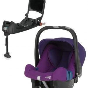 Britax Römer Turvkaukalo Baby Safe Plus SHR II 2016 Mineral Purple + Turvaistuimen Telakka ISOFix