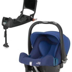 Britax Römer Turvkaukalo Baby Safe Plus SHR II 2016 Ocean Blue + Turvaistuimen Telakka ISOFix