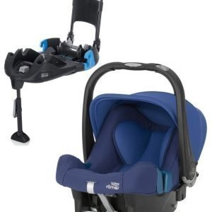 Britax Römer Turvkaukalo Baby Safe Plus SHR II 2016 Ocean Blue + Turvaistuimen Telakka Turvavöillä