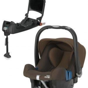 Britax Römer Turvkaukalo Baby Safe Plus SHR II 2016 Wood Brown + Turvaistuimen Telakka ISOFix