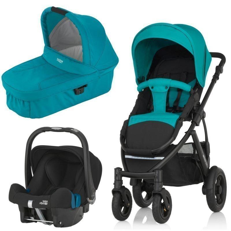 Britax Smile 2 Yhdistelmävaunut Lagoon Green + Britax Baby Safe Plus SHR II 2016 Paketti