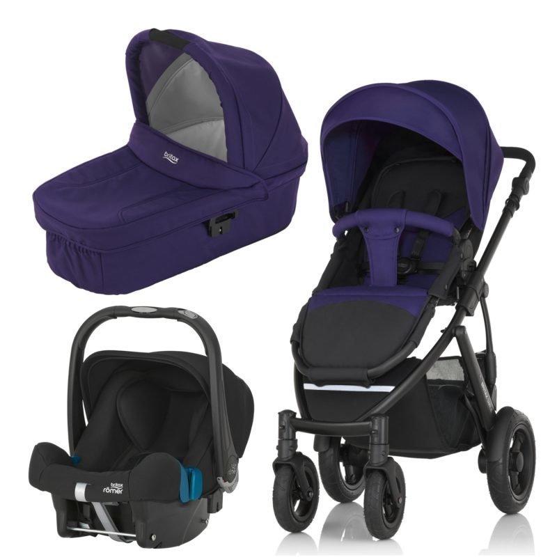 Britax Smile 2 Yhdistelmävaunut Mineral Purple + Britax Baby Safe Plus SHR II 2016 Paketti