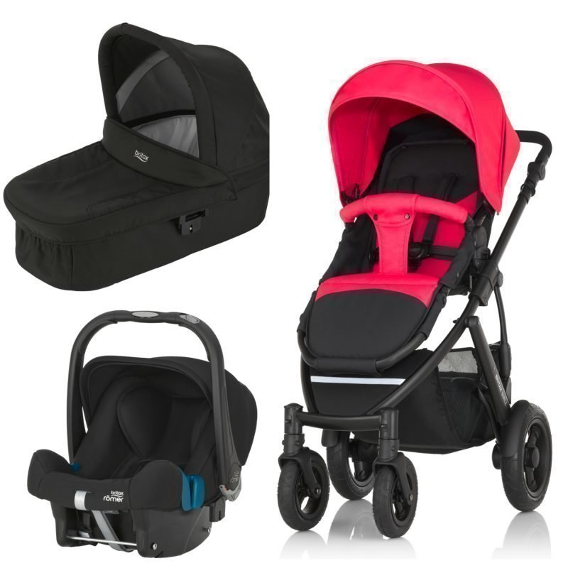 Britax Smile 2 Yhdistelmävaunut Rose Pink + Britax Baby Safe Plus SHR II 2016 Paketti