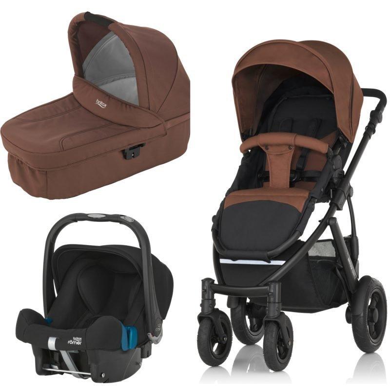 Britax Smile 2 Yhdistelmävaunut Wood Brown + Britax Baby Safe Plus SHR II 2016 Paketti