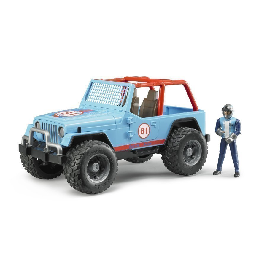 Bruder Jeep Cross Country Racer Ja Kilpa Ajaja 02541