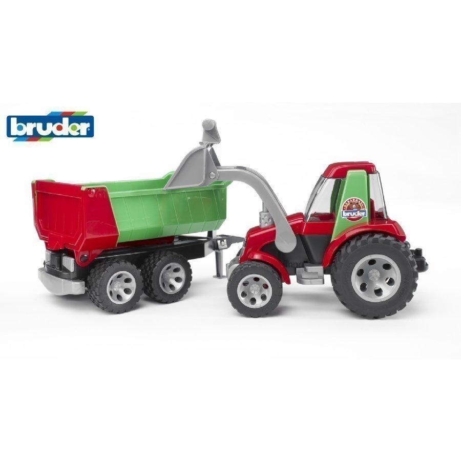 Bruder Roadmax Traktori Etukuormaajalla Ja Kippivaunu 20116