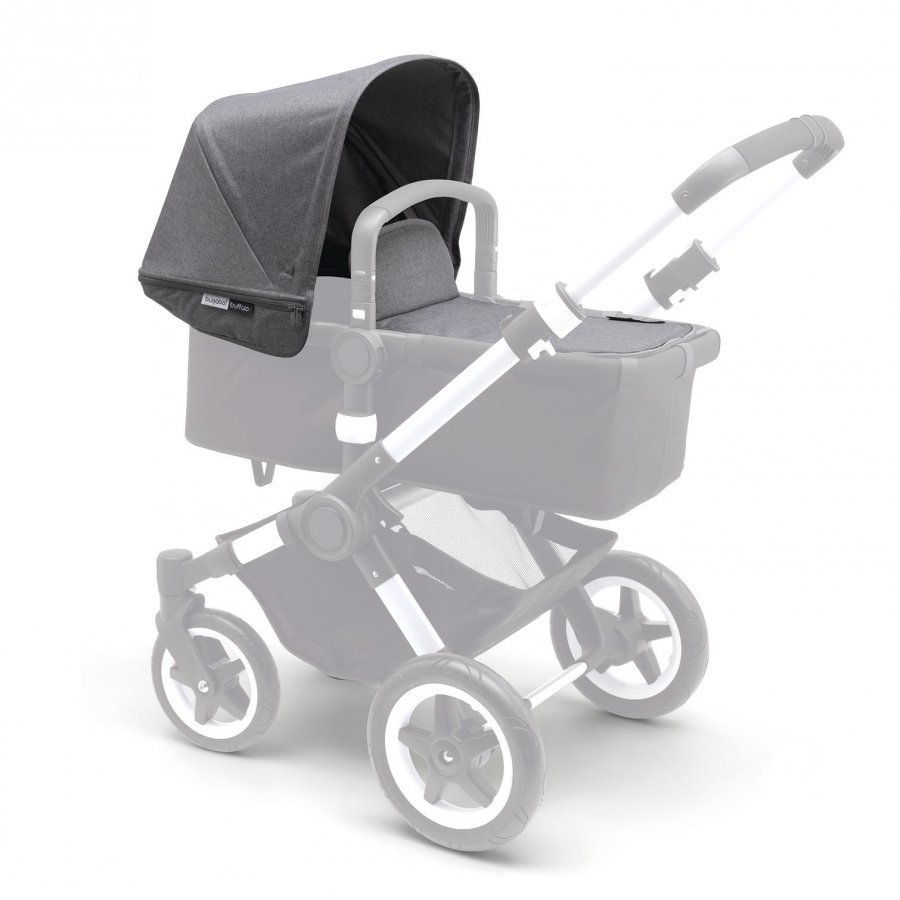 Bugaboo Buffalo Tailored Fabric Set Grey Melange Aurinkokuomu