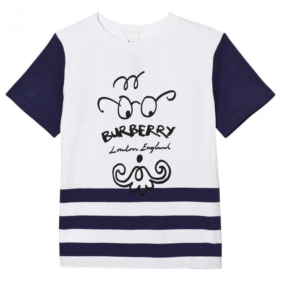 Burberry Bearded Gent Print Tee Blue T-Paita