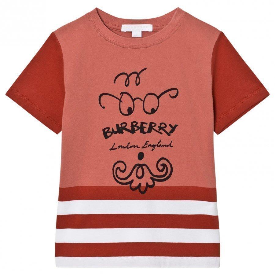 Burberry Bearded Gent Print Tee Red T-Paita