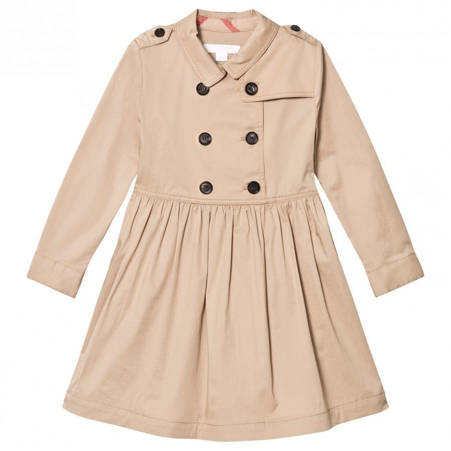 Burberry Beige Lillyana Long Sleeve Trench Dress Mekko
