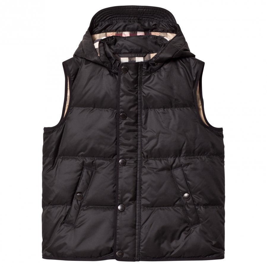 Burberry Black Down Hooded Gilet Toppaliivi