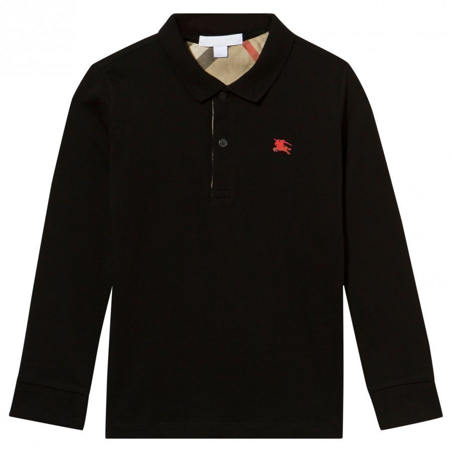 Burberry Black Long Sleeve Jersey Polo Pikeepaita