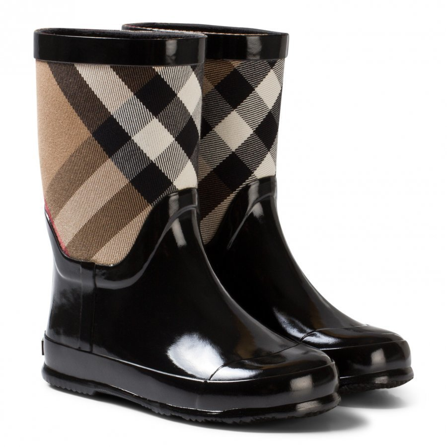 Burberry Black Nova Check Wellies Kumisaappaat