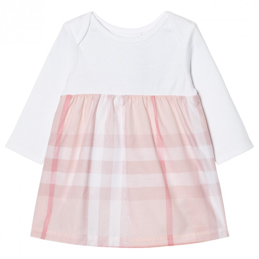 Burberry Check Detail Dress Pale Pink Mekko