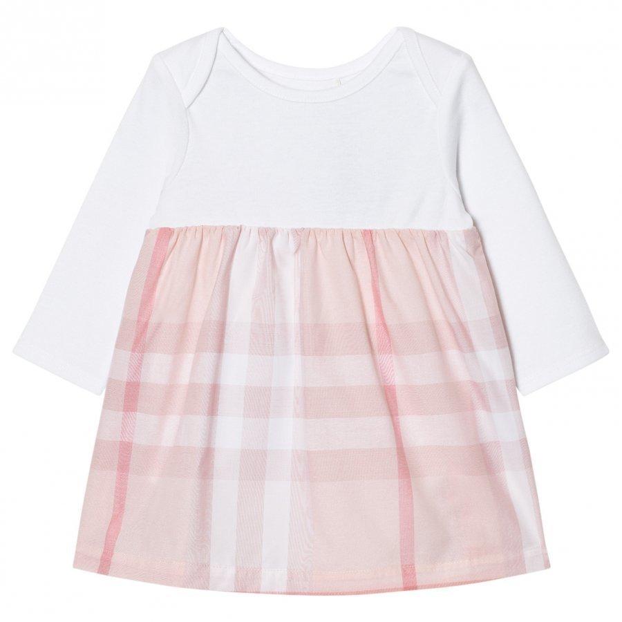 Burberry Check Detail Dress Pale Pink Mekko