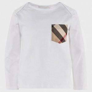 Burberry Check Pocket Pitkähihainen T-Paita