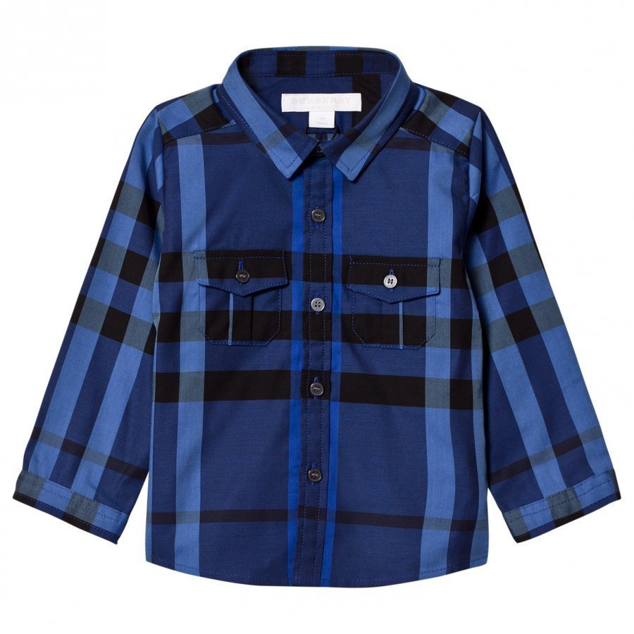Burberry Check Trent Shirt Brilliant Blue Kauluspaita