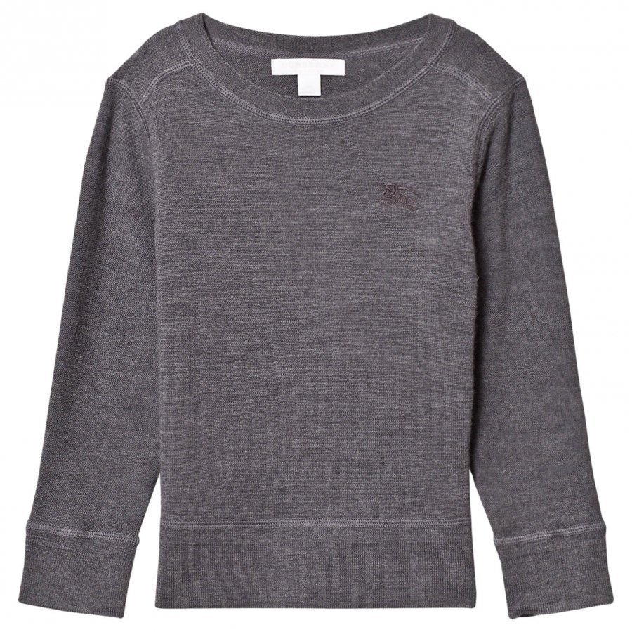Burberry Grey Merino Knit Sweater Paita