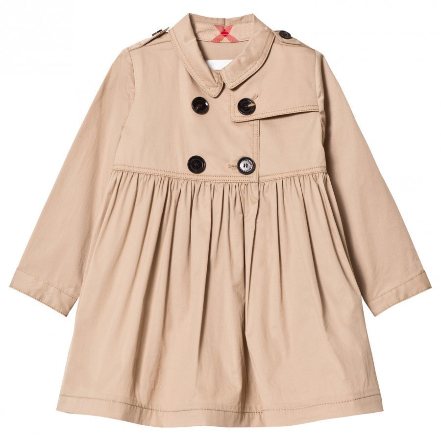 Burberry Honey Stretch Cotton Trench Dress Mekko
