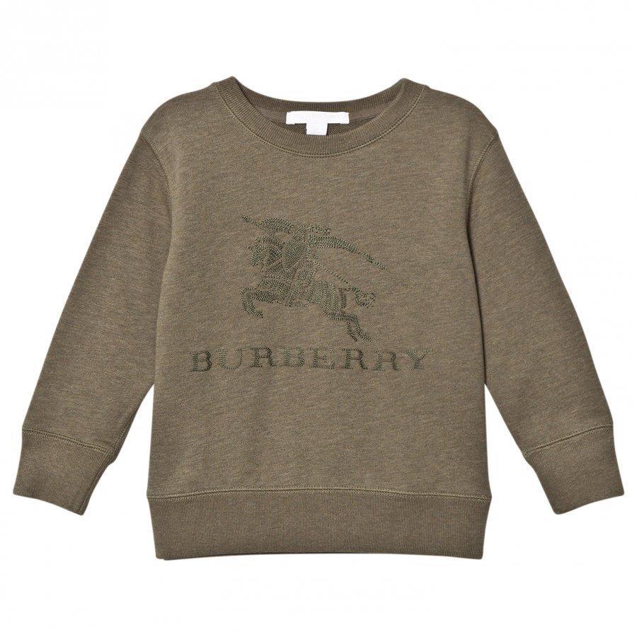 Burberry Khaki Green Knight Embroidered Sweatshirt Oloasun Paita