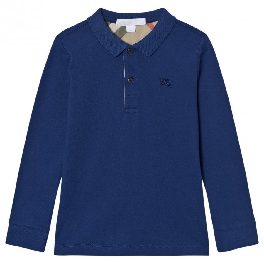 Burberry Malong Sleeve Polo Marine Blue Pikeepaita