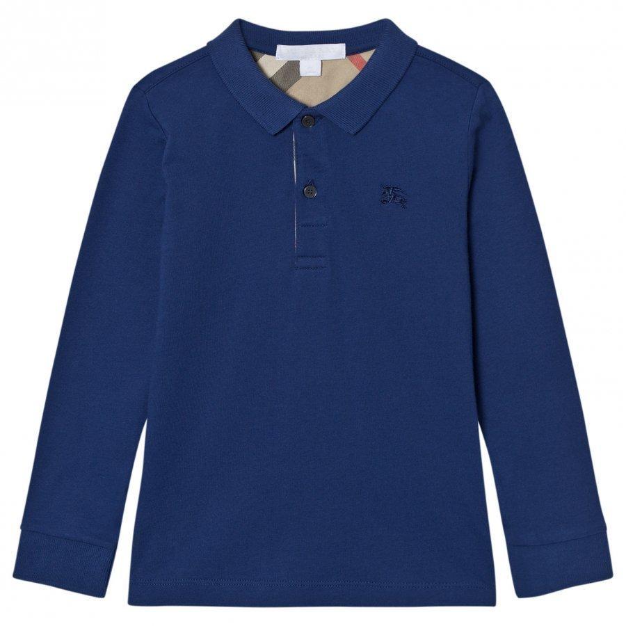 Burberry Malong Sleeve Polo Marine Blue Pikeepaita