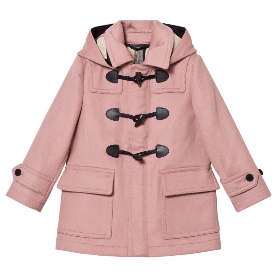 Burberry Mini Burwood Wool Duffle Coat Pale Pink Duffelitakki