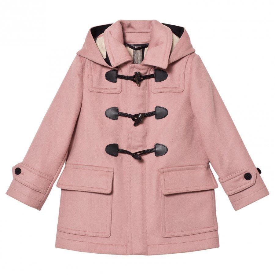 Burberry Mini Burwood Wool Duffle Coat Pale Pink Duffelitakki
