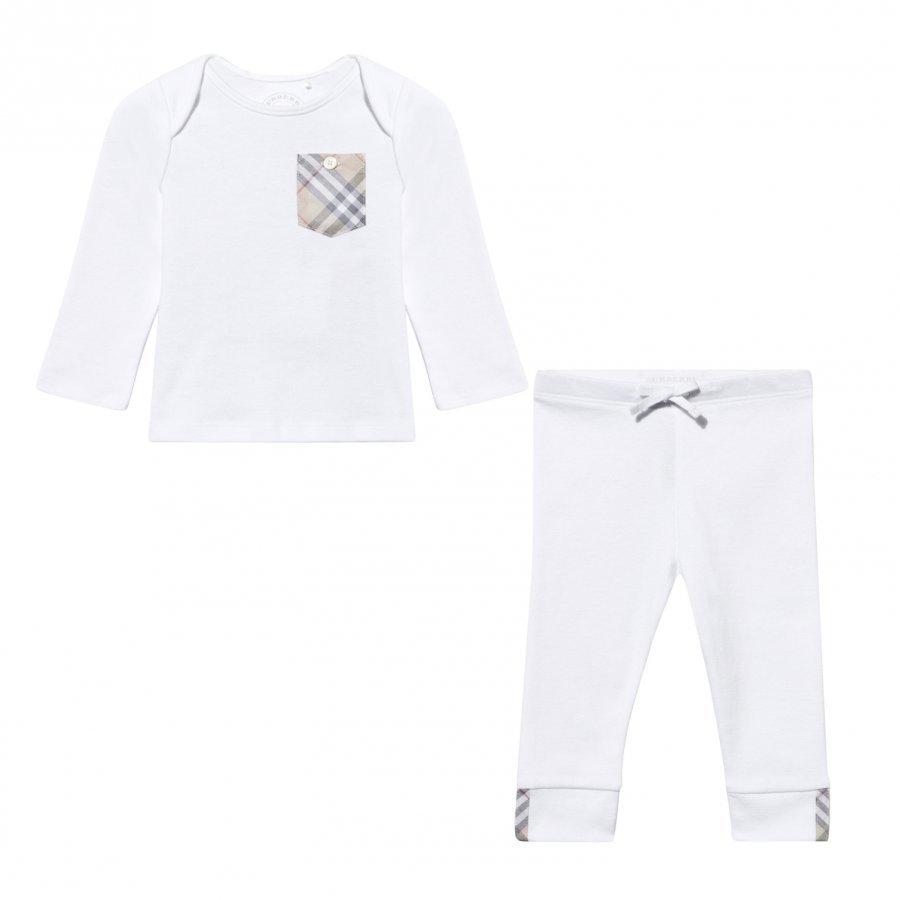 Burberry Nate Pyjama Setti Valkoinen Lahjasetti