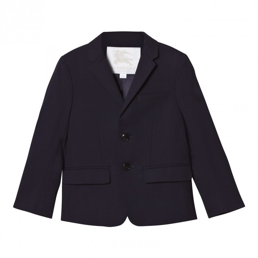 Burberry Navy Cool Wool Suit Jacket Puvuntakki