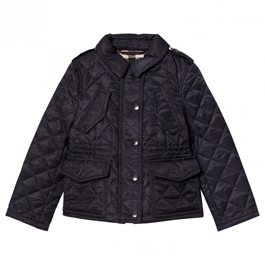 Burberry Navy Quilted Jacket Armeijatakki