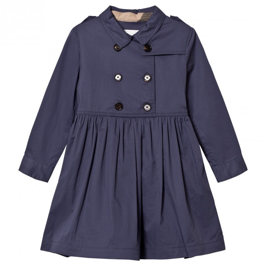 Burberry Navy Stretch Cotton Trench Dress Juhlamekko