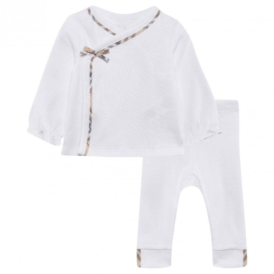 Burberry Nylah Pyjama Setti Valkoinen Lahjasetti