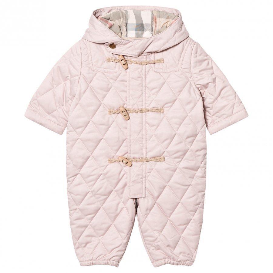 Burberry Pale Pink Quilted Keeper Snowsuit Vauvan Haalari