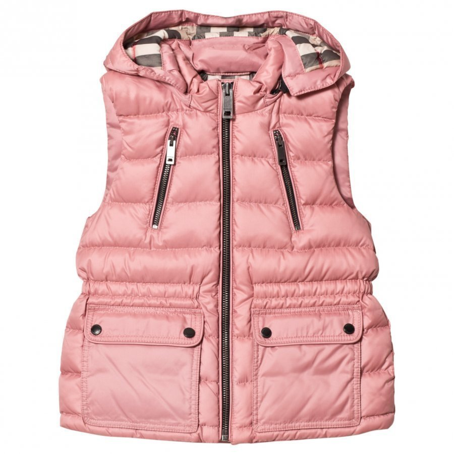 Burberry Pale Rose Down Gilet With Detachable Hood Toppaliivi