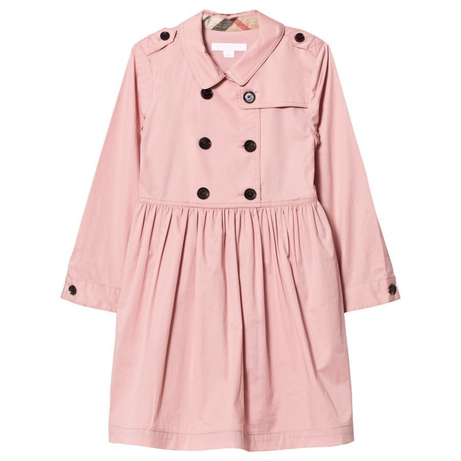 Burberry Pale Rose Stretch Cotton Trench Dress Mekko