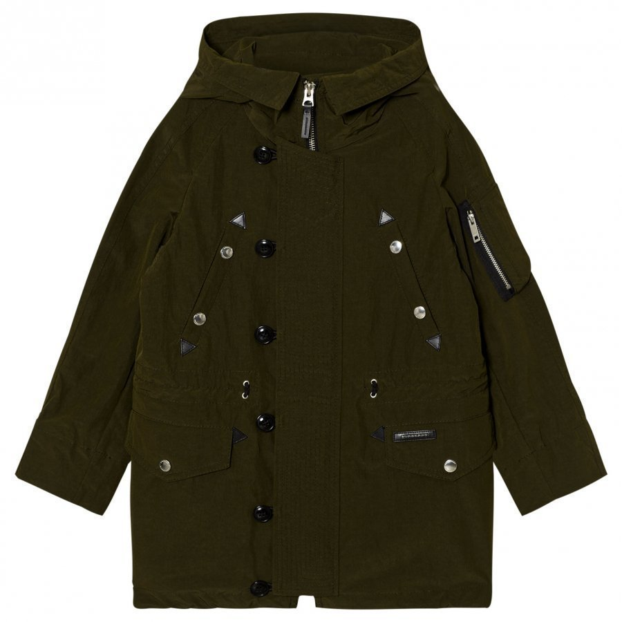 Burberry Shillington Hooded Parka Dark Olive Parkatakki