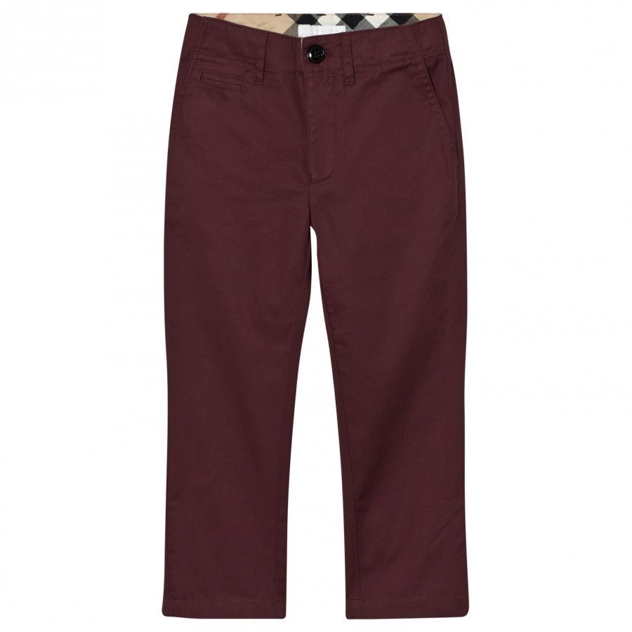 Burberry Teo Chinos Burgundy Chinos Housut
