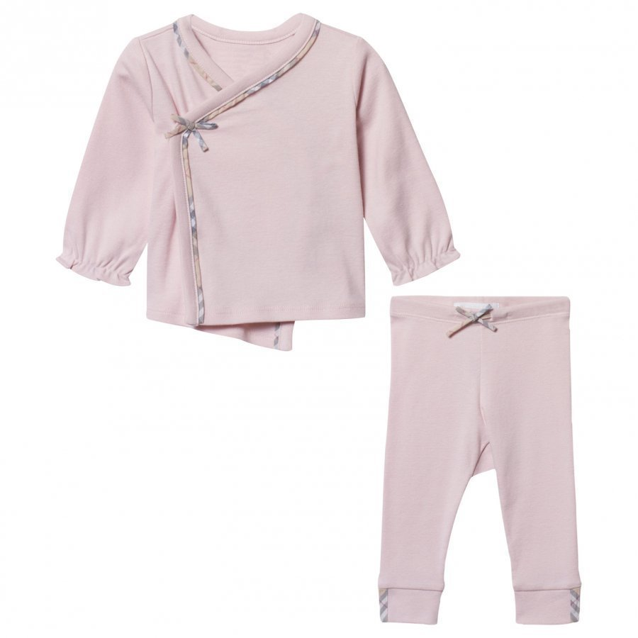 Burberry Two-Piece Cotton Baby Gift Set Powder Pink Lahjasetti