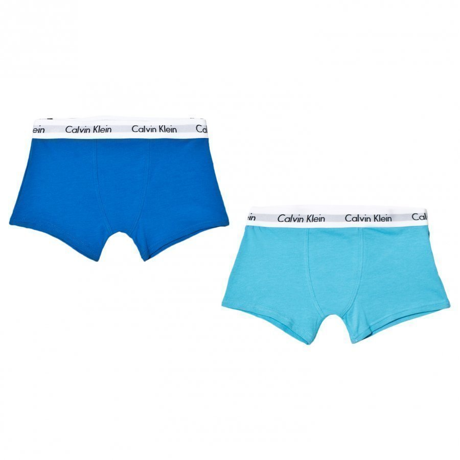 Calvin Klein 2 Pack Of Blue Trunks Bokserit