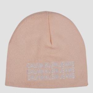 Calvin Klein Basic Knitted Beanie Hattu Vaaleanpunainen